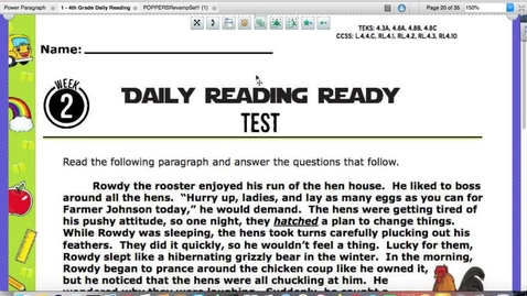 Thumbnail for entry Reading Quiz and Writing for Friday, Sept. 4