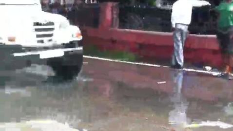 Thumbnail for entry What does a flooded street in Amritsar look like?