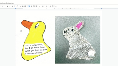 Thumbnail for entry I am a yellow duck_bunny poem - Google Docs
