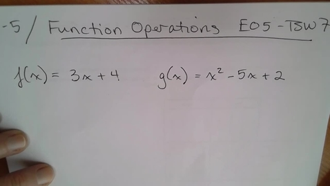Thumbnail for entry Adv Mth BD E05 (TSW 7) Function Operations