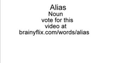 Thumbnail for entry Brainyflix SAT Video: Alias