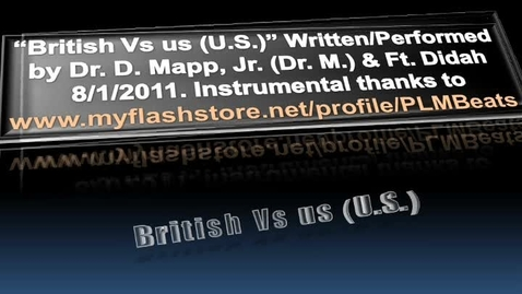 Thumbnail for entry Rap Lyrics for British vs us (American Revolution Remix)