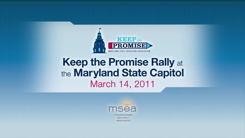 Thumbnail for entry Maryland Keep the Promise Rally