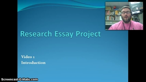 Thumbnail for entry Research Essay 1