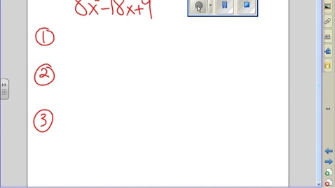 Thumbnail for entry Factoring when there is no GCF example 13