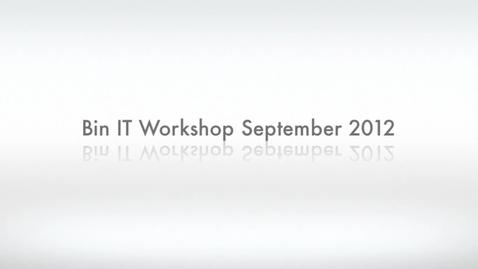 Thumbnail for entry Bin IT Worksop September 2012