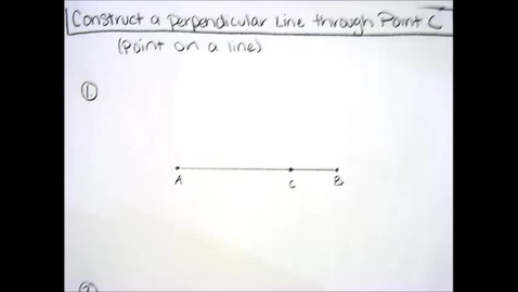 Thumbnail for entry Constructions - Perpendicular through point on line