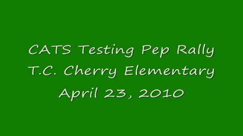 Thumbnail for entry CATS Testing Pep Rally