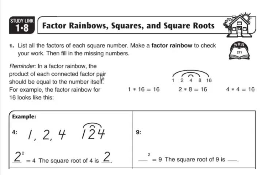 Factor Rainbows, Squares, and Square Roots EDM 1 7