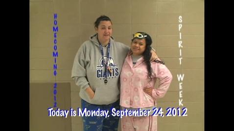 Thumbnail for entry Monday, September 24, 2012