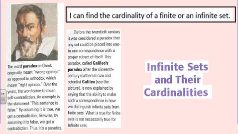 Thumbnail for entry Infinite Cardinalities