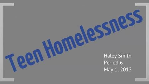 Thumbnail for entry Teen Homelessness
