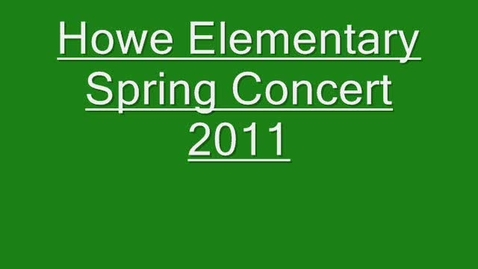 Thumbnail for entry Spring Concert 2011