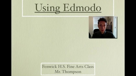 Thumbnail for entry How to use Edmodo