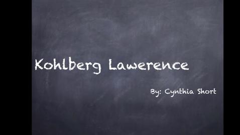 Thumbnail for entry Kohlburg 2nd Mod Cynthia
