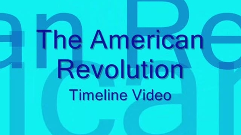 Thumbnail for entry American Revolution