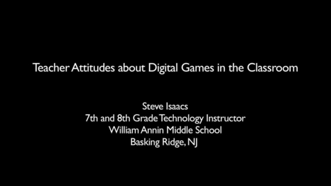Thumbnail for entry Teaching with Games: GLPC Case Study: Steve