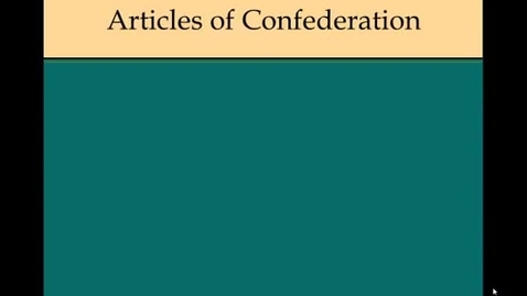 Thumbnail for entry Articles of Confederation Review