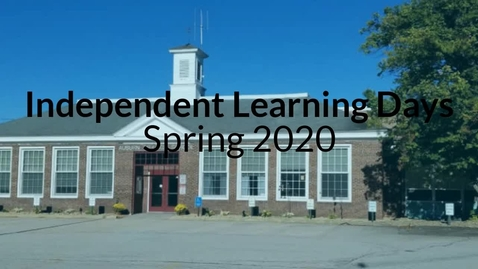 Thumbnail for entry Independent Learning Day