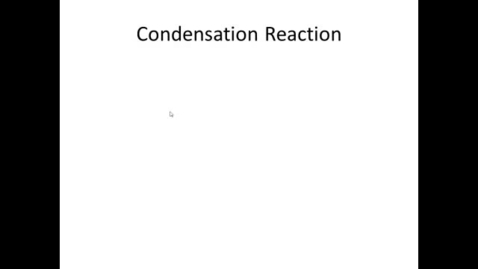 Thumbnail for entry Condensation of two monosaccharides to form a disaccharide
