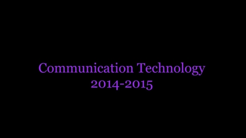 Thumbnail for entry Communication Technology video