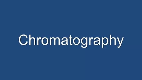 Thumbnail for entry Chromatography