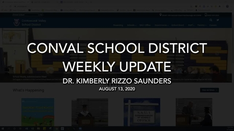 Thumbnail for entry ConVal School District Weekly Update