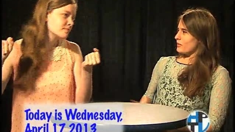 Thumbnail for entry Wednesday, April 17, 2013