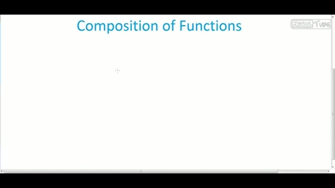 Thumbnail for entry Composition of Functions
