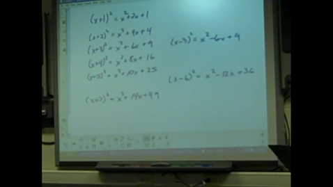 Thumbnail for entry Juda Math Dept - Completing the Square Review