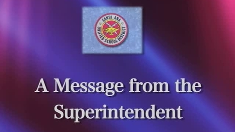 Thumbnail for entry Superintendent Staff Welcome