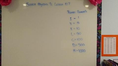 Thumbnail for entry Saxon Algebra 1/2 Lesson 107