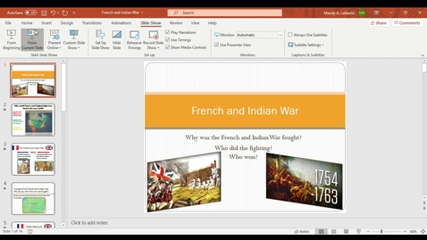 Thumbnail for entry French and Indian War PowerPoint