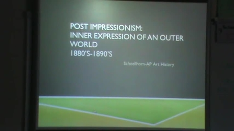 Thumbnail for entry Post-Impressionism Introduction 4/12