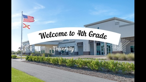 Thumbnail for entry 4th Grade Orientation at University Academy, 2020-21