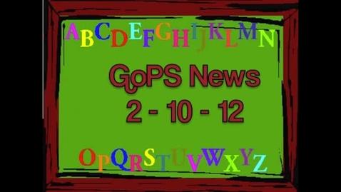 Thumbnail for entry GoPS News 2-10-12