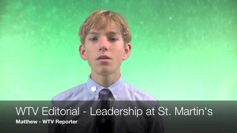 Thumbnail for entry WTV Leadership Editorial