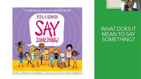 Thumbnail for entry Thu 6.11 Read Aloud: Say Something by Peter Reynolds