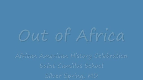 Thumbnail for entry African American History Celebration #1
