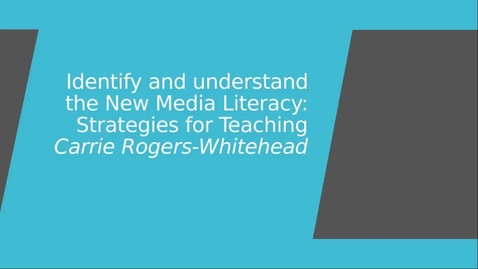 Thumbnail for entry Media Literacy