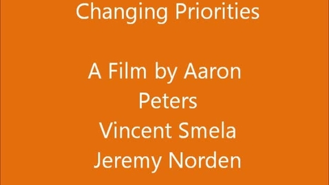Thumbnail for entry Changing Priorities