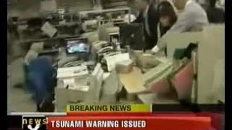 Thumbnail for entry Japan hit by Tsunami