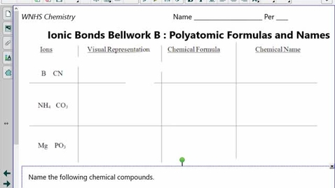 Thumbnail for entry Ionic Bonds Notes #3 Stock System Naming