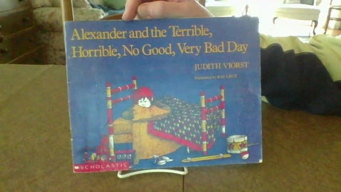 Thumbnail for entry Alexander and the Terrible, Horrible, No Good, Very Bad