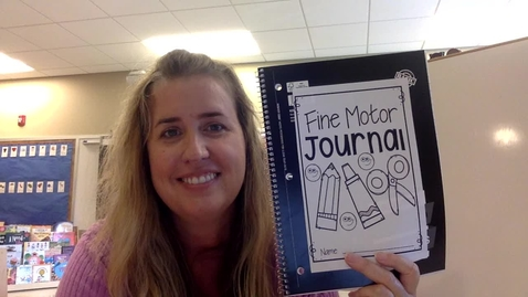 Thumbnail for entry Activity - Fine Motor Journal, Dots & Lines