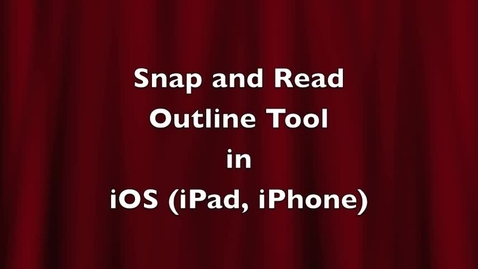 Thumbnail for entry Using the Snap and Read Outline tool on an iOS device