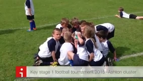 Thumbnail for entry Key stage one football tournament held at Nicol Mere 2015
