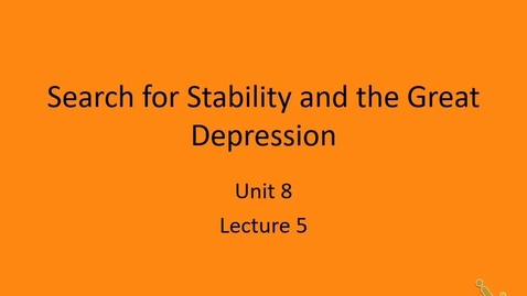 Thumbnail for entry AP Euro: Lecture 5 - Great Depression