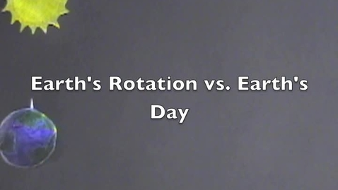 Thumbnail for entry Why is a Rotation NOT a Day?
