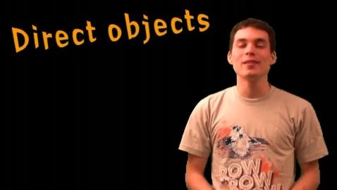 Thumbnail for entry El Objeto Directo Spanish